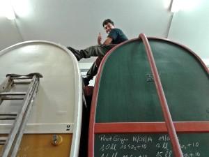 Pier Sfriso on the cask