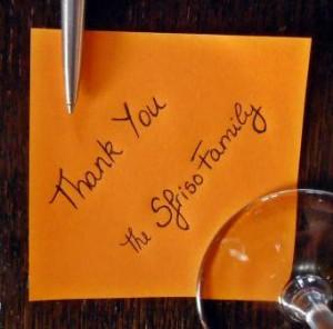 Sfriso Thank-you