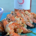 Garlicky Grilled Shrimps go with… Sfriso Rosè, of course!