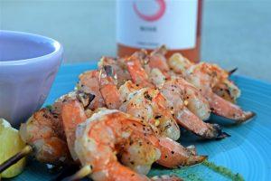 Sfriso Rosè with Garlicky Shrimp