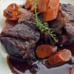 Braised Short Ribs with Root Vegetables & Currants, a recipe for Refosco Sfriso