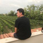 Pier Sfriso looking at vineyard
